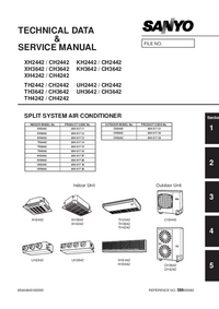 Manual de servicio Sanyo XH4242