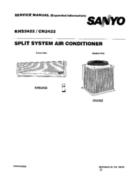 Serviceanleitung Sanyo KHS 2422