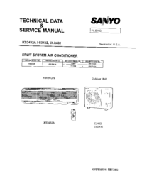 Service Manual Sanyo KS 2432A