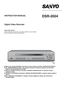 Manual del usuario Sanyo DSR-2004