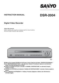 User Manual Sanyo DSR-2004