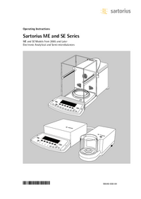 User Manual Satorius SE2