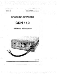 User Manual Schaffner CDN 110