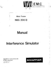 Gebruikershandleiding, Schema Schaffner NSG 200 D