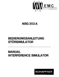 Manual do Usuário Schaffner NSG 203 A