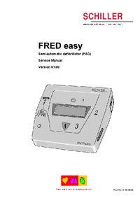Manual de servicio Schiller FRED Easy