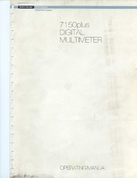 Manuale d'uso Schlumberger 7150 plus