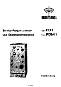 Service and User Manual Schomandl FDM1