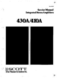 Руководство по техническому обслуживанию Scott 430A