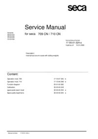 Instrukcja serwisowa Seca 709 CN