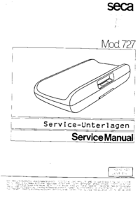 Руководство по техническому обслуживанию Seca 727
