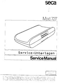 Serviceanleitung Seca 727