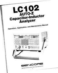 Serwis i User Manual Sencore LC102