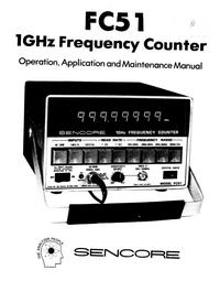 Instrukcja obsługi Sencore FC51