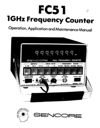 Manual del usuario Sencore FC51