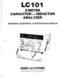 Instrukcja serwisowa Sencore LC101