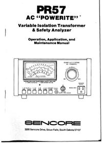 Sencore-5923-Manual-Page-1-Picture