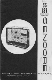 manuel de réparation Sencore SS137