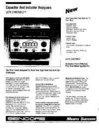 folha de dados Sencore LC75