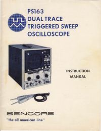 User Manual Sencore PS163