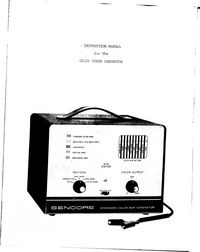 Serviço e Manual do Usuário Sencore CG126