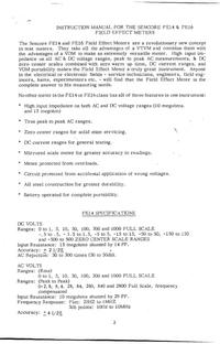 Service-en gebruikershandleiding Sencore FE16