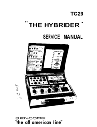 Servicehandboek Sencore TC28