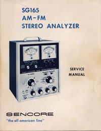 Service- und Bedienungsanleitung Sencore SG165