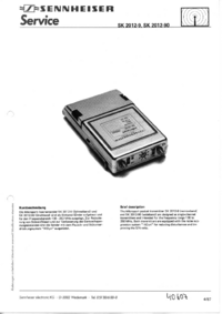 Manual de servicio Sennheiser SK 2012-90