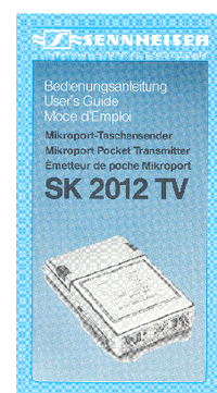 Manual del usuario Sennheiser SK 2012 TV