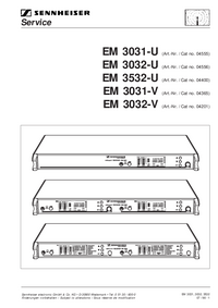 Manual de serviço Sennheiser EM 3032-V