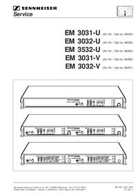 Manuale di servizio Sennheiser EM 3032-V