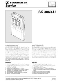 Руководство по техническому обслуживанию Sennheiser SK 3063-U