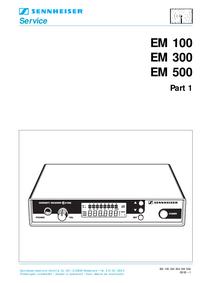 Service Manual Sennheiser EM 100