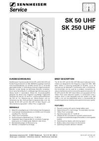 Servicehandboek Sennheiser SK 250 UHF