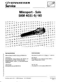 Service Manual Sennheiser SKM 4031-90