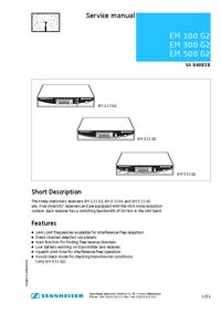 Manuale di servizio Sennheiser EM 500 G2