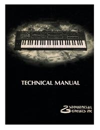 Руководство по техническому обслуживанию SequentialCirquits Prophet 600