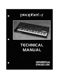 Service Manual SequentialCirquits Prophet 5