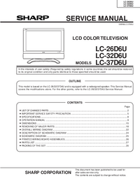 Service Manual Sharp LC-32D6U