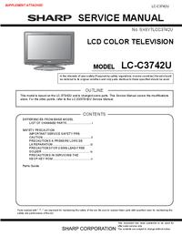 Servicehandboek Sharp LC-C3742U