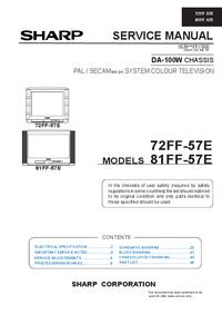 Instrukcja serwisowa Sharp 72FF-57E
