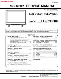 Serviço Manual Supplement Sharp LC-32D50U