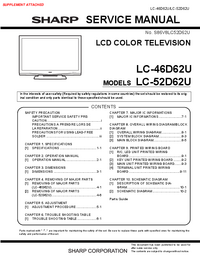 Service Manual Sharp LC-46D62U