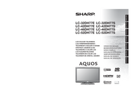 User Manual Sharp LC-32DH77E