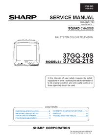 Instrukcja serwisowa Sharp 37GQ-20S