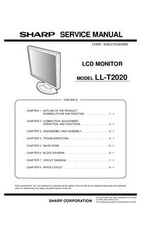 Instrukcja serwisowa Sharp LL-T2020