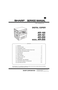Manual de servicio Sharp AR-205