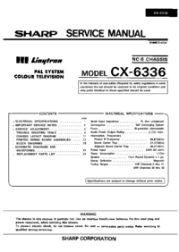 Service Manual Sharp CX-6336