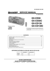 manuel de réparation Sharp GX-CD130C